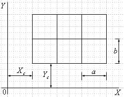 Engraving of grid rectangle