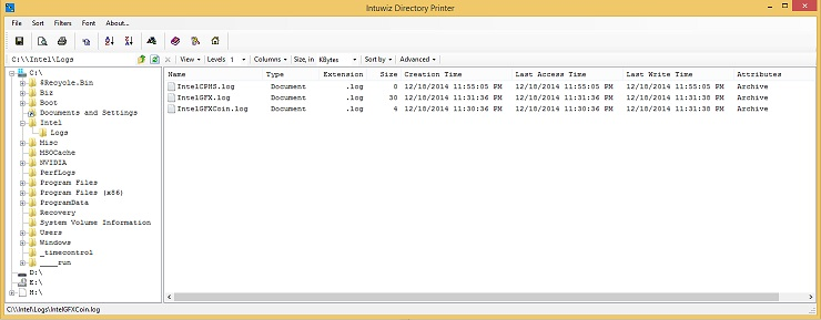 Windows 7 Intuwiz Directory Printer 1.0 full