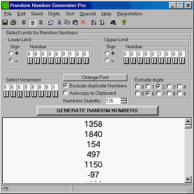 Click to view Random Number Generator Pro 2.18 screenshot